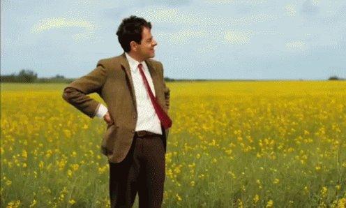 Mr Bean Checking Time GIF