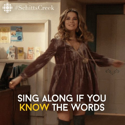 schitts creek singing GIF by CBC