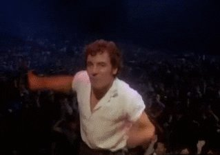 bruce springsteen dancing GIF