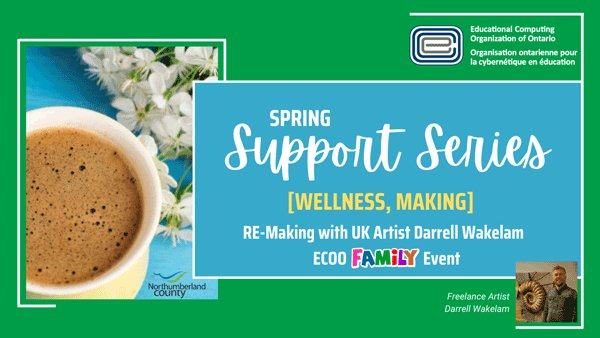RELAX during the Spring Break! We have three #wellness, #family, #making events during the break to help you unwind and enjoy some social/family time!  JOIN US!  #ECOOsupportseries https://t.co/4Ea3qioa1P
