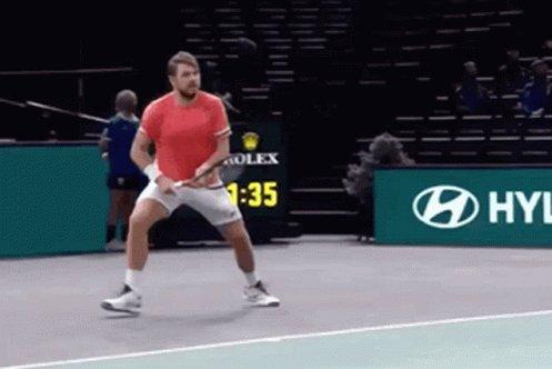 Stan Wawrinka Sliding Forehand GIF
