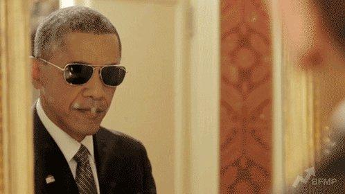 Barack Obama Sunglasses GIF
