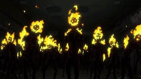 A bunch of infernals walk into a bar... #FireForce #Toonami