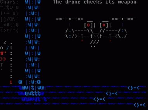 Ascii Drone GIF