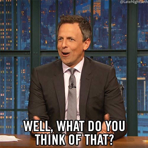 what do you think seth meyers GIF by Late Night with Seth Me