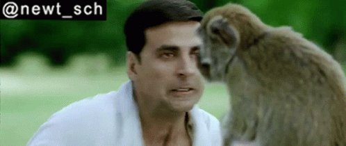Housefull2010 Akshay Kumar Fight With Monkey GIF