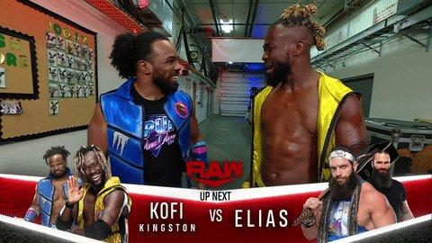 UP NEXT: #TheNewDay's @TrueKofi squares off against @IAmEliasWWE on #WWERaw! https://t.co/RAOFpmbNCI