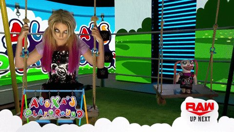 UP NEXT: Join @AlexaBliss_WWE and Lilly in #AlexasPlayground... 🙃 https://t.co/kW3JFHHAfC