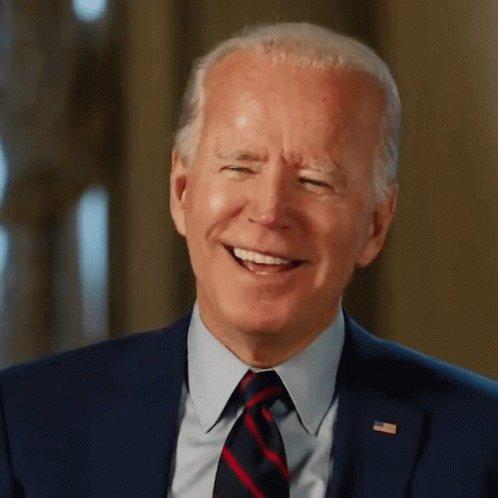 Laughing Joe Biden GIF