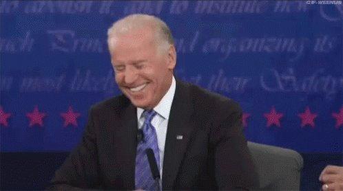 Biden Laugh GIF