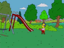 Lonely The Simpsons GIF
