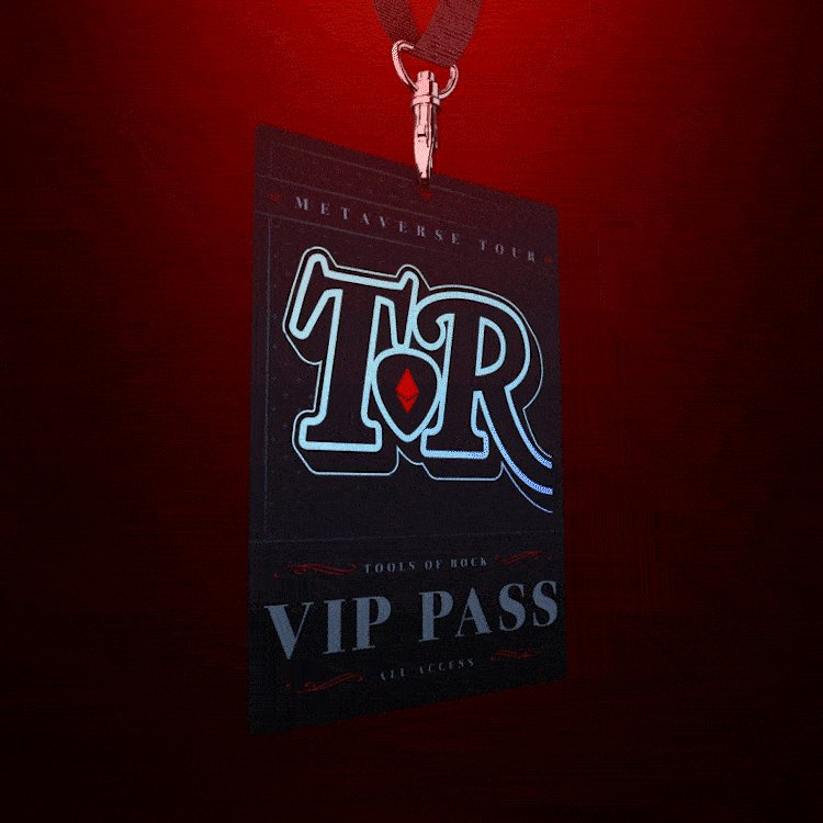 That's it! We have reached our 2500 VIP Pass cap!   Congratulations to everyone in the club.. Time to buckle up and prepare for the Tour of your life! #TORNFT #ToolsofRock