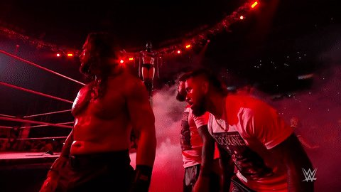 #TheDemon HAS RISEN!!!  #SmackDown #ExtremeRules @FinnBalor @WWERomanReigns @WWEUsos @HeymanHustle https://t.co/FKuPrPUakA