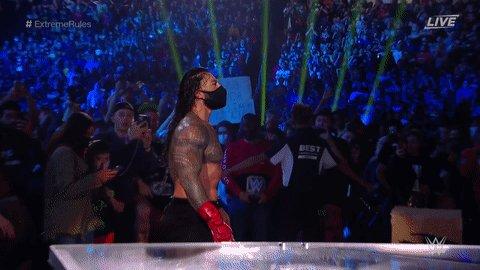 RT @WWEUniverse: 😷😷😷😷😷  #ExtremeRules @WWERomanReigns https://t.co/yOJXzFQlsQ