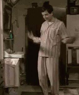 Morning Workout - Mr. Bean GIF
