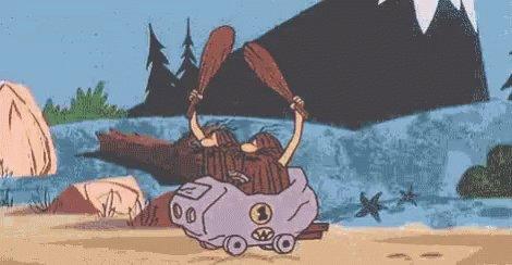 Captain Caveman Driving To ...