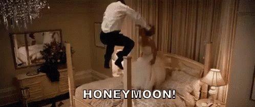 Bride & Groom Jumping O...