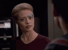 """Clip of Seven of Nine modified to say """"you're certainly"""