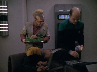 Dotor from Voyager tells Chef Tuvok a third unconscious pers