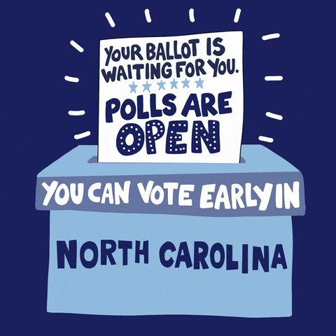 Image for the Tweet beginning: Early voting is underway for