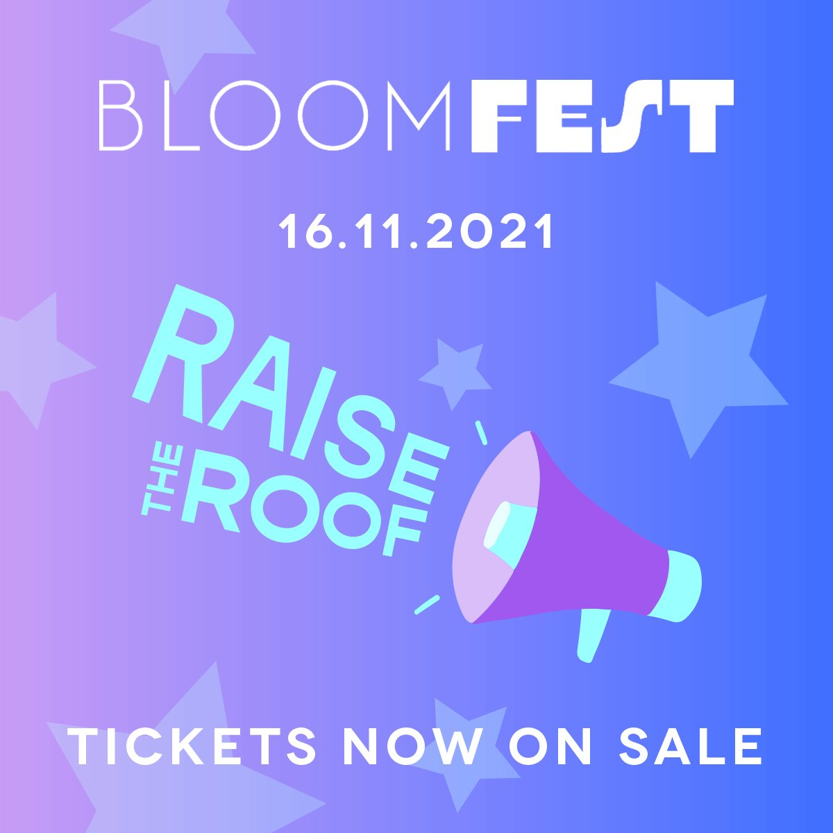 ⭐️ BLOOMFEST 2021 ⭐️ Tickets are NOW LIVE for our flagship event of the year...and it's time to RAISE THE ROOF! Join us virtually on Tuesday 16th November: bloomfest.cventevents.com/event/e26a1cda…