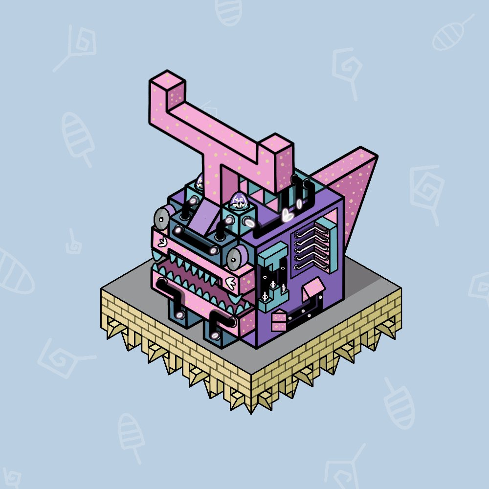The Monster Machine   No.21           Price 0.012ETH all                                                Op: opensea.io/collection/mon…                                      —————————————————#NFTTHAILAND #NFTCommunity #NFTshill #NFTcollection #nftart #nftart