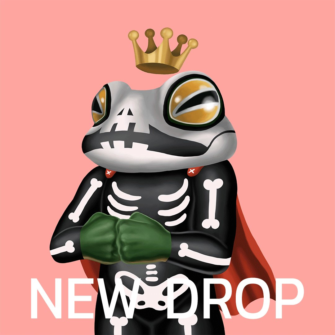 🍀Welcome to the 'Multiverse of King Frog'🍀   🐸No#17-#22 👻The halloween collection is available now on @opensea  please check it out😉 opensea.io/collection/too…  #NFTCommunity #NFTTHAILAND #nft #NFTdrop #OpenSeaNFT #opensea #Ethereum #ETH #toomtamgx #frogs #Halloween