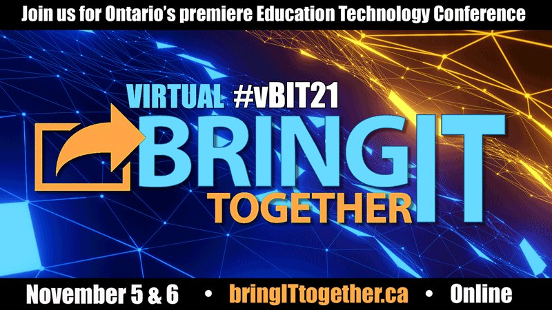 10 DAYS … and counting!  Don't miss #vBIT21, Ontario's premiere education technology conference   — coming November 5th & 6th  https://t.co/PPJWAgyAac   co-produced by @ECOOorg and @Ontario_ASBO